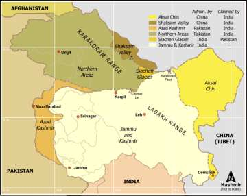 Kashmir Map, courtesy of Wikipedia