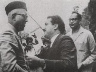 K H Khurshid with Sheikh Abdullah