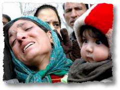 Abdul Rehman Padroo's Wife And Kid 9courtesy of Greater Kashmir)
