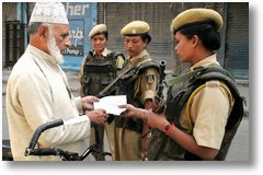 CRPF Checks An Old Man's Curfew Pass